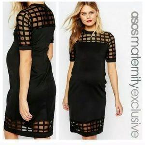 ASOS Maternity Mesh Caged Scuba Dress
